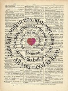 It sounds so simple...All You Need is Love.....