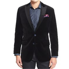 Robert Graham - Lindenwood Classic Fit Velvet Blazer: A statement blazer can make your holiday outfit. And a black velvet one is iconic.