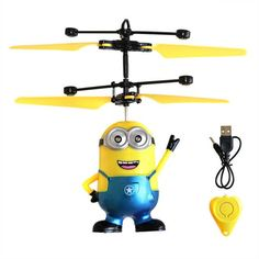 LITTLEHEE Upgrade Induction Flying Toys Minions Remote Control RC Helicopter floating toys kids Flying toys
