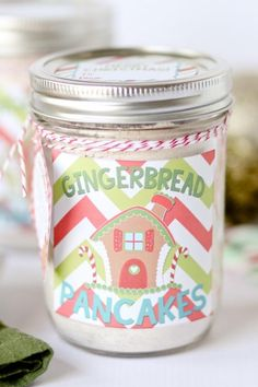 Homemade Gingerbread Pancake Mix | Flapjack genius. Mason jars are quite possibly the South's favorite containers. They are ideal vessels for drinking sweet tea (or bourbon), making adorable crafts, and even cooking breakfast, including one of our favorite morning pick—pancakes. These Mason jar pancake recipes are the most delicious way to start the day. With pancake mix in a jar, all you have to do is add water, eggs, and/or milk, and you've got breakfast.