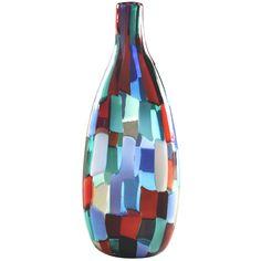 a rare colorful patchwork murano vase, designed by fulvio bianconi for venini / italy 1961