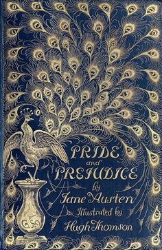 """Nevermind """"don't judge a book by its cover""""! Front cover from Pride and prejudice, by Jane Austen, illustrated by Hugh Thomson. Book Cover Art, Book Cover Design, Book Design, Book Art, Cover Books, Jane Austen, Books And Tea, I Love Books, Vintage Book Covers"""