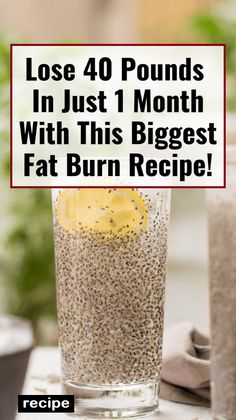 40 Pounds In Just 1 Month With This Biggest Fat Burn Recipe! Lose 40 Pounds In Just 1 Month With This Biggest Fat Burn Recipe!Lose 40 Pounds In Just 1 Month With This Biggest Fat Burn Recipe! Weight Loss Drinks, Fast Weight Loss, How To Lose Weight Fast, Lose Fat, Weight Gain, Fat Fast, Weight Loss Smoothies, Loose Weight, Foods To Lose Weight