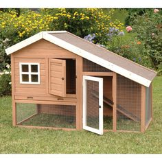 Precision Pet Products Cape Cod Chicken Coop with Chicken Run, Nesting Box & Roosting Bar