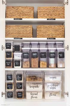 Organizing with Container Store Products &; Happy Happy Nester Organizing with Container Store Products &; Happy Happy Nester Remodelaholic Remodelaholic Pantry This is the best post about organizing with […] Pantry Room Kitchen Organization Pantry, Container Organization, Pantry Storage, Storage Organization, Food Storage, Kitchen Storage Containers, Refrigerator Organization, Pantry Ideas, Storage Bins