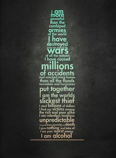 The truth about alcohol.    #alcoholism