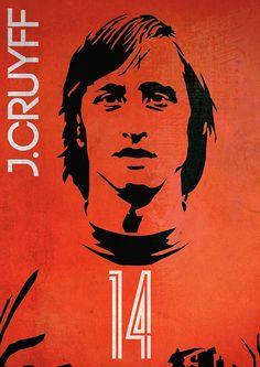 #johan #cruyff #14 #poster #poster #johancruyff Cruyff by johnsalonika84