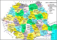 hatra romaniei | ... administrativa a Romaniei2 300x212 Harta administrativa a Romaniei Romania Map, Bart Simpson, Nirvana, Geography