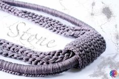 """Necklace """"Stone"""" with instructions - #bewool - www.bewool.de"""