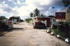 Gate and Guardhouse Airport Camp Belize Central America early to mid I remember this so clearly, especially the sword fish sign. British Army Regiments, Army Day, Military Photos, Honduras, Central America, Belize, Places Ive Been, Past, Stuff To Do