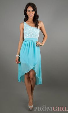 View Dress Detail: CL-41724 Blue One Shoulder $49