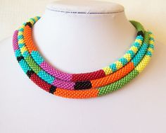 Long Beaded Crochet Rope Necklace - $76.50