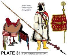 Ottoman Turkish Uniforms WW1 History First World War Militaria Turkey Wargaming Military Insignia Uniform Crimea Crimean - 1860 to 1876 Ottoman Army Cavalry