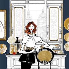WEBSTA @ meganhess_official - My heart always skips a beat when I see new Wedgwood pieces but my heart may have skipped 100 beats when I first saw their new Gilded Muse Collection! This is my illustration of Alexa surrounded all the beautiful pieces.It's the perfect mix of vintage figures with a modern edge. And its all in beautiful crisp white and sparkling GOLD! In short, it is my favourite Wedgwood Collection to date and just so happens to match everything in my home and studio…