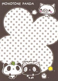 Crux Monotone Panda Mini Memo (1) (Sheet) | by Crazy Sugarbunny