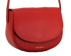 !!!Coccinelle Umhängetasche Dione rot Überschlag Coquelicot Clutch, Rind, Saddle Bags, Shoe Bag, Shoes, Ladybug, Dime Bags, Leather, Zapatos