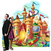 Candy Land Large Castle Standee