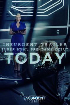 This is not a game. Watch the latest simulation-infused, Insurgent trailer during the Big Game pre-game show today!