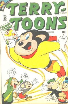 comic terry toons 55 #comic #cover #art