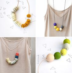 Handmade bead necklaces (fimo beads) by Rachel Wightman of Not Tuesday
