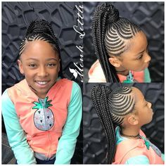 2019 Beautiful and Lovely Braids for Kids - Braids - Braided Hairstyles Little Girl Braids, Black Girl Braids, Braids For Kids, Braids For Black Hair, Girls Braids, Braids For Black Kids, Lil Girl Hairstyles, Black Kids Hairstyles, Braided Ponytail Hairstyles