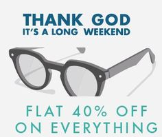 FLAT 40% Off on Everything at Lenskart