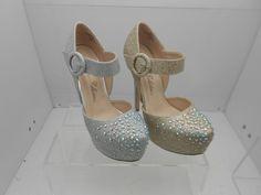 silver sparkle platforms