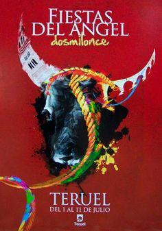 Cartel finalista Fiestas del Ángel 2011 Titulo: Bravo Teruel