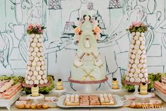 WedLuxe– A 'Ladies Who Lunch at Ladurée'-Inspired Bridal Shower   Photography By: Purple Tree Photography Follow @WedLuxe for more wedding inspiration!