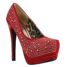 High heeled diamante platform shoe from www.sixfeetovershoes.co.uk