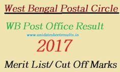 West Bengal Postal Circle GDS Result 2017, WB Gramin Dak Sevak Cut Off/ Merit List Check, WB Post Office GDS Cut Off/ Merit list 2017, WB Barasat GDS Result