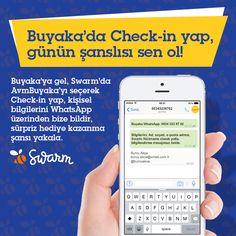 Buyaka hediye yağmuruna devam ediyor. Buyaka'ya gel, Swarm'da AvmBuyaka'yı seçerek Check-in yap, kişisel bilgilerini WhatsApp üzerinden ilet, sürpriz hediye kazanma şansını yakala! Buyaka WhatsApp; 0534 323 97 02  Yarışma Koşulları  http://on.fb.me/1B703jt