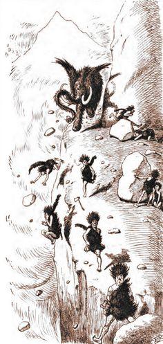 Edward Tennyson Reed – Prehistoric Peeps: Debido a su notoria excentricidad, sus relaciones con el mamut local fueron algo tensas (1893)