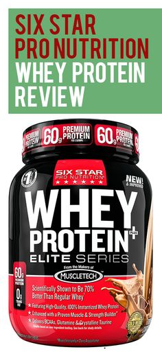 Six Star Pro Nutrition Elite Series Whey Powder offers an easy to mix powder of instantized whey proven to build muscle and strength. Whey Protein Reviews, Protein Powder Reviews, Best Protein Powder, Whey Powder, Build Muscle, How To Know, Strength, Nutrition, Stars