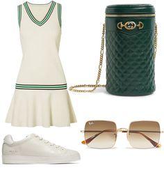 Tennis Fashion, Sport Fashion, Fitness Fashion, Female Fashion, Wimbledon Tennis, Wimbledon Club, Tennis Accessories, Fashion Accessories, Sport Outfits