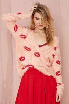 Nasty Gal Kiss the Sky Shag Sweater
