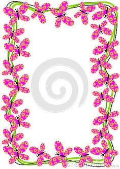 (C) Celia Ascenso -  Flying Butterflies Border Frame.