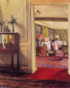 Interior with Woman in Pink. Felix Vallotton. 1904. #vallotton