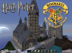 HOGWART'S SCHOOL OF WITCHCRAFT & WIZARDRY (1x1 scale) Minecraft Project