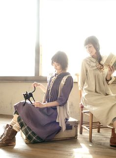 Here's another picture of these two lovely Mori Kei girls Mori Mode, Forest Fashion, Girls Diary, Mori Girl Fashion, Forest Girl, Whimsical Fashion, Japanese Street Fashion, Girl Inspiration, My Style