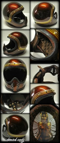 Chemical Candy Customs: Full Face....Vintage Bell Moto3