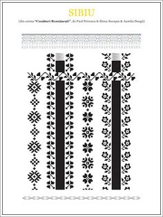 Semne Cusute: model de camasa din TRANSILVANIA, Sibiu Folk Embroidery, Learn Embroidery, Cross Stitch Embroidery, Embroidery Patterns, Cross Stitch Borders, Cross Stitch Patterns, Sewing Stitches, Embroidery Techniques, Beading Patterns