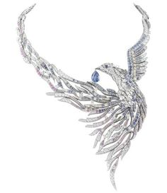 Van Cleef & Arpels diamond and sapphire phoenix