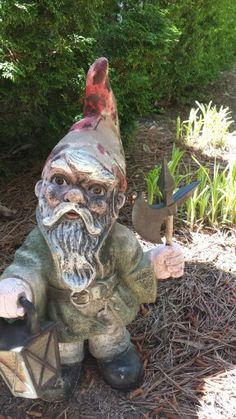 Garden Gnome Guarding the Front Door