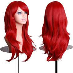 """*New Arrival* EmaxDesign Wigs 70cm 28"""" High Quality Cosplay Wig For Women Long Full Spiral Curly Wavy Big Wavy Heat Resistant Fashion Glamour Hairpiece with Free Wig Cap and Wig Comb(Color: Red)"""