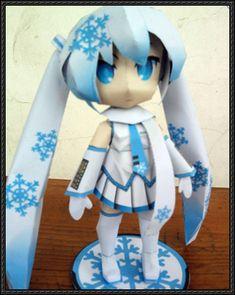 Vocaloid - Chibi Snow Hatsune Miku Ver.18 Free Papercraft Download