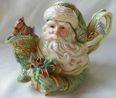 Magical Fitz Floyd Collectible Gregorian Santa Christmas Teapot | eBay