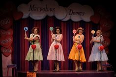 The Marvelous Wonderettes Set, Costumes, and Props Rental #tmtcompany #themarvelouswonderettes
