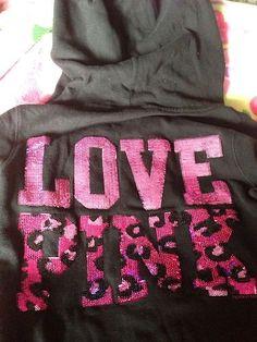Victoria's Secret Pink Sequin bling hoodie jacket  cheetah print