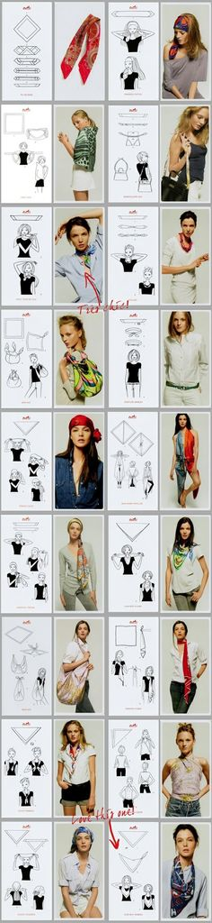 Wonderful ways to use a piece of square cloth! I have to try this